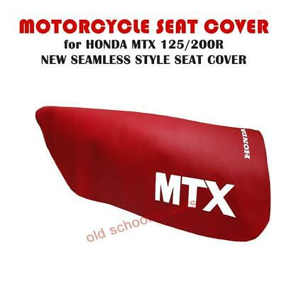 Honda Mtx125R Mtx200R Mtx 125 R Red Motorcycle Seat Cover With White Logos