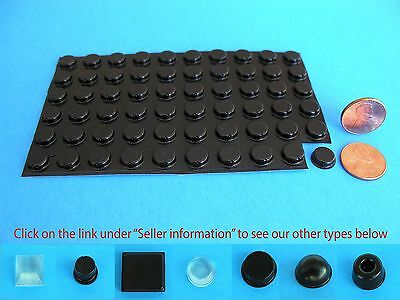 "60 Self Adhesive Rubber Bumpers Stop Leg Feet Pad No Slip .37""W x .12""H USA Made"