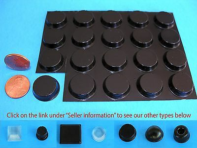 "20 Self Stick Rubber Bumper Stops Legs Feet Pads Non-Slip .78""W x .20""H USA Made"