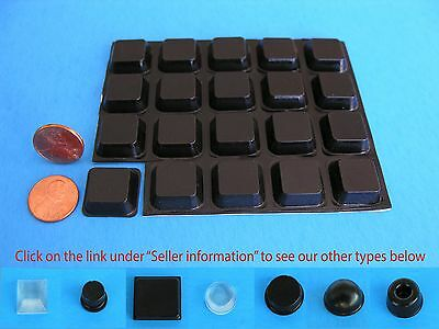 "20 Self Stick Rubber Bumper Stops Legs Feet Pads Non Slip .78""W x .25""H USA Made"