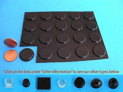 "20 Self Stick Rubber Grommet Stops Legs Feet Pad No Slip .81""W x .12""H  USA Made"