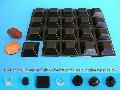 "20 Self Stick Rubber Bumpers Stops Legs Feet Pad Non Slip .81""W x .30""H USA Made"