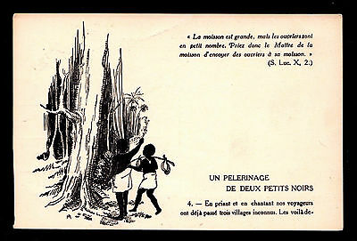 Belgian Congo Picture Catholic Propaganda Card #4 Soliciting Funds For Children
