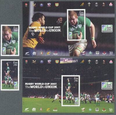 Ireland-Irish Rugby World Cup set & Min sheet collection mnh-2007