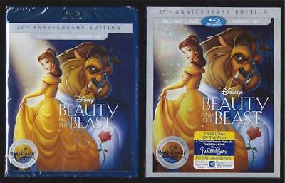Disney Beauty And The Beast Blu-Ray + Dvd + Digital Hd W/slipcover *new Sealed*