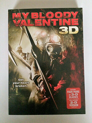 My Bloody Valentine 3D (2009 Jensen Ackles) 3D/2D DVD NEW SEALED with slipcover