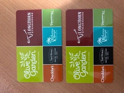 $30 Darden Gift Card to Olive Garden, Longhorn Steakhouse, Cheddars, Yard House