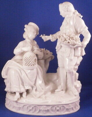 Antique 18thC Meissen Porcelain Couple Figurine Figure Porzellan Figur Marcolini