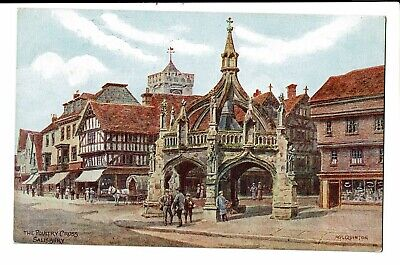 CPA-Carte postale -Royaume Uni - Salisbury- The  Poultry Cross -VM1511