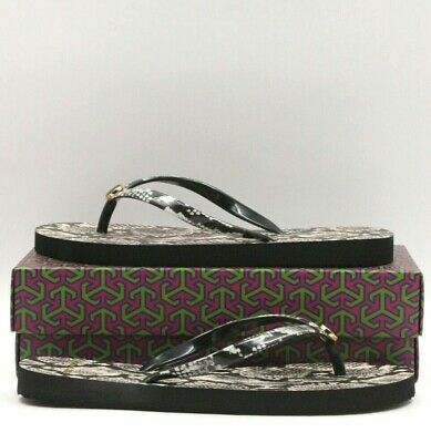 980b34261 TORY BURCH Printed Thin Flip Flop Women Size 7M Roccia (Natural) 38959