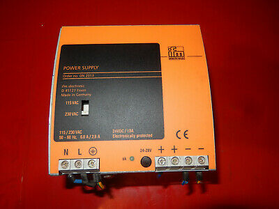ifm POWER SUPPLY DN 2013, 24VDC 10A