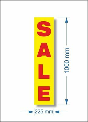 3 x Shop YELLOW SALE POSTER, window banner poster