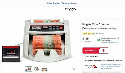 Money Note Counter Bought From Kogan.com Brand New