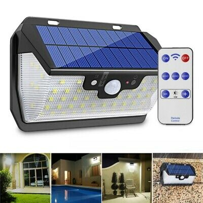 55 LED Solar Motion Sensor Light 3 Modes Outdoor Security Wall Lamp USB Charging