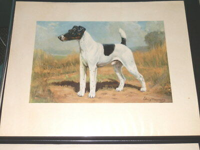#9395,TWO Superb Edwin Megargee 1940's Era Dog Prints,Fox Terrier/Pointer