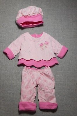 American Girl Bitty Baby Vintage 3 P/c Pink Outfit Set For Bitty Baby Doll Vguc