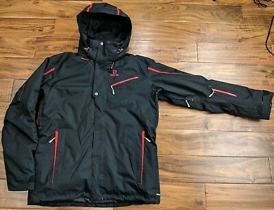 8d3c492ac9a5 Salomon Express Ski Snowboard Jacket Insulated Winter Hooded Advanced Mens  XL