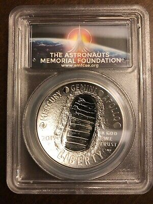 2019-P Apollo 11 50th Anniversary Commemorative Silver Proof 1 oz PCGS PF69DCAM