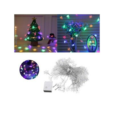 9.5M 75LEDs 8 Modes Multicolor Snowflake Fairy String Light for Christmas AC220V
