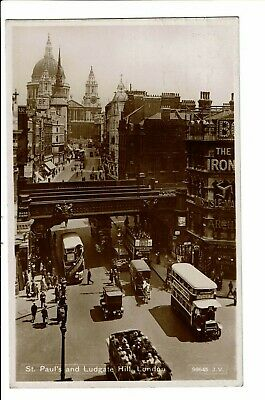 CPA-Carte postale -Royaume Uni-London-Ludgate Hill And St Paul--1931-VM1513