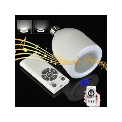 E27 9W Wireless Bluetooth Control Smart Music Audio Speaker LED White Light Bulb