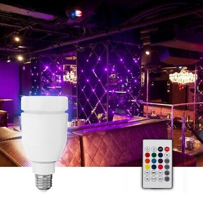 E27 7W RGBW Music Audio Bluetooth Speaker LED Light Smart Bulb With Remote Contr