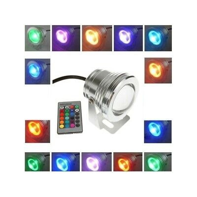10W 12v Underwater RGB Waterproof LED Pool Light With Remote Control