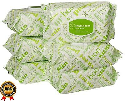 Elements High Quality Baby Wipes, Fresh Scent, 480 Count Flip-Top, 6 Packs, New