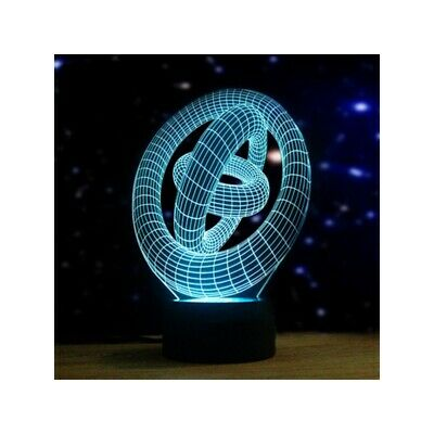 Artistic 3D Night Light 7 Colors Changing LED Touch Switch Table Lamp Xmas Gift