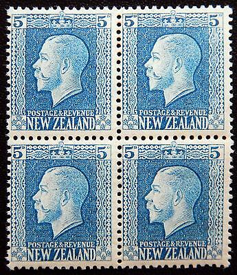 New Zealand Kat. 161a MNH ** Block of Four KGV 1921 Kat. 140 Euro