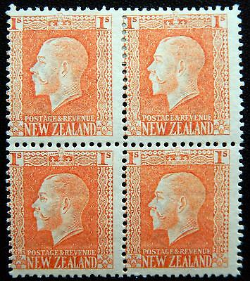 New Zealand Kat. 146a MNH/MLH **/* Block of Four KGV 1915 Kat. 150 Euro