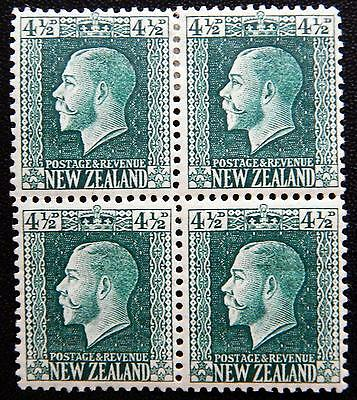 New Zealand Kat. 142c MNH/MLH **/* Block of Four KGV 1915 Kat. 140 Euro