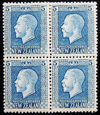 New Zealand Kat. 161a MNH/MLH **/* Block of Four KGV 1921 Kat. 102 Euro