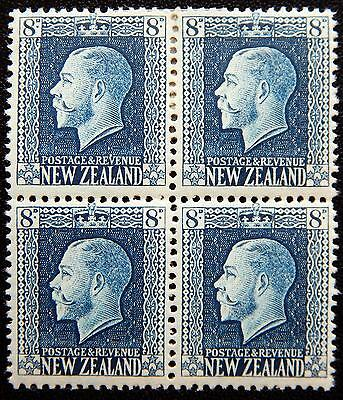 New Zealand Kat. 162a MNH/MLH **/* Block of Four KGV 1921 Kat. 120 Euro