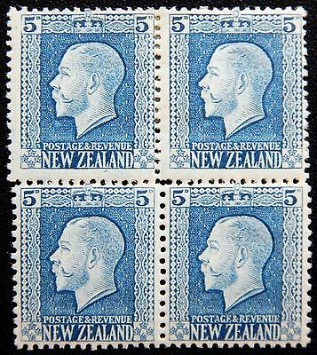 New Zealand Kat. 161a&c MNH/MLH **/* Block of Four KGV 1921 Kat. 100 Euro
