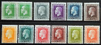 New Zealand Kat. 136-146 MH * KGV 1915 Kat. 180 Euro most perf. 14.5