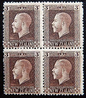 New Zealand Kat. 140 Ia MNH/MLH **/* Block of Four KGV 1915 Kat. 120 Euro