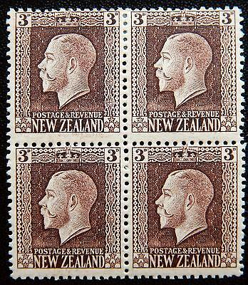 New Zealand Kat. 140 Ia MNH/MH **/* Block of Four KGV 1915 Kat. 120 Euro