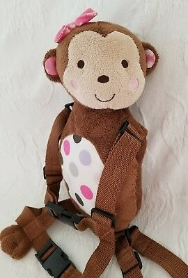 Carters Child of Mine 2-in-1 Harness Buddy Monkey with Pink Bow New