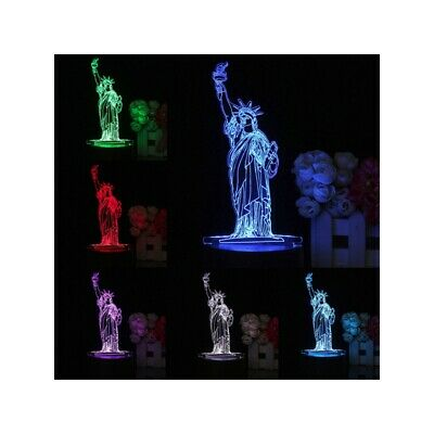 3D New York City Statue of Liberty Touch Remote 7 Color Changing LED Table Night