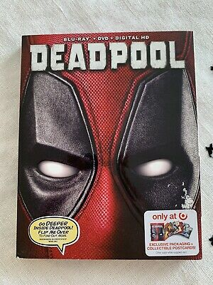 Deadpool Blu Ray + Dvd 2016 Target Edition with Collectible Postcards!