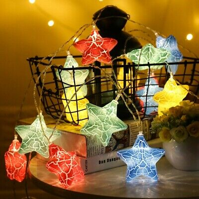 3M Battery Powered Warm White Cute Star 20 LED Fairy String Holiday Light for Ch