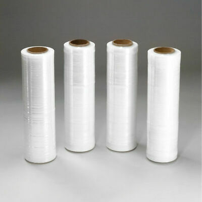 """Clear Cast Hand Stretch Wrap 18"""" x 1000' Plastic Shrink Film 4 Rolls Pickup Only"""