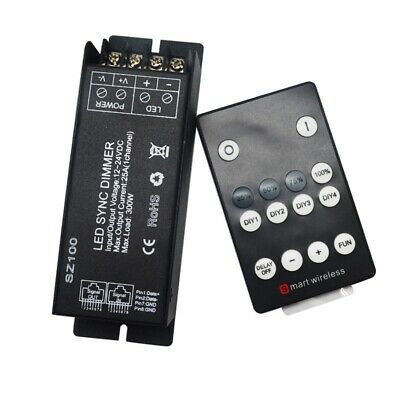 DC12-24V 25A RF Wireless Remote Controller LED Dimmer for Single Color Strip Lig