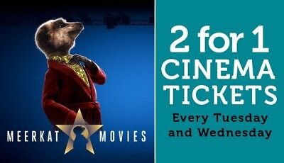 2 For 1 Meerkat Movie Cinema Code For Tuesday 26th or Wednesday 27th March 2019