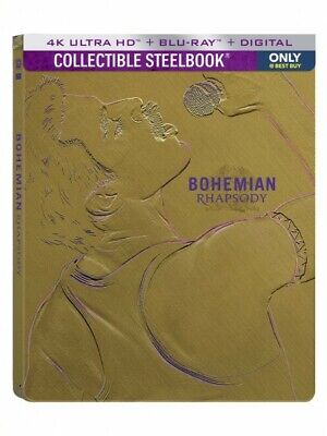 BOHEMIAN RHAPSODY queen *BEST BUY 4K + BLU-RAY LIMITED STEELBOOK freddie mercury