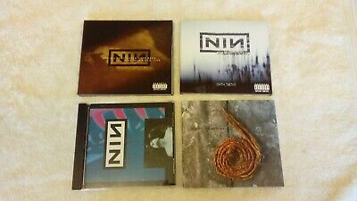 4 Nine Inch Nails CD joblot inc : With Teeth, And All That, Further Down Spiral