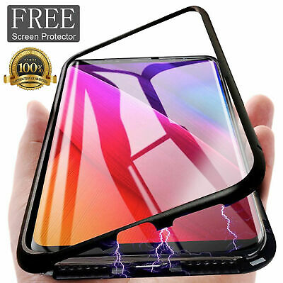 For Samsung Galaxy S10 Plus/S10e Magnetic Absorption Phone Case Metal Edge Cover