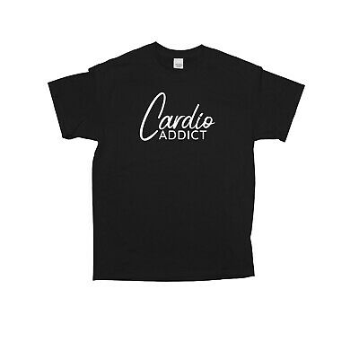 Cardio Addict T-Shirt Cross Country Running Bodybuilding Fitness Motivation