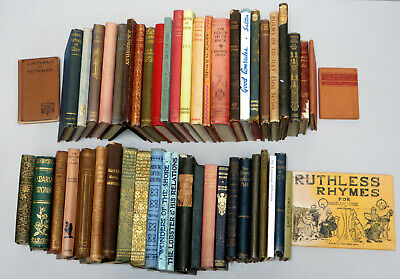 A Collection of 50 Old Books inc. Charles Dickens Christmas Books, Saki, Byron &